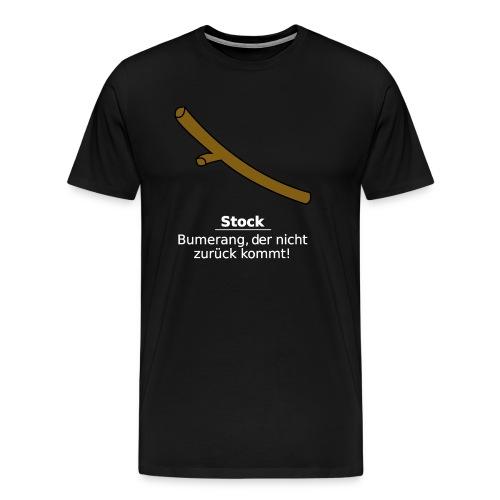 Stock Bumerang - Männer Premium T-Shirt