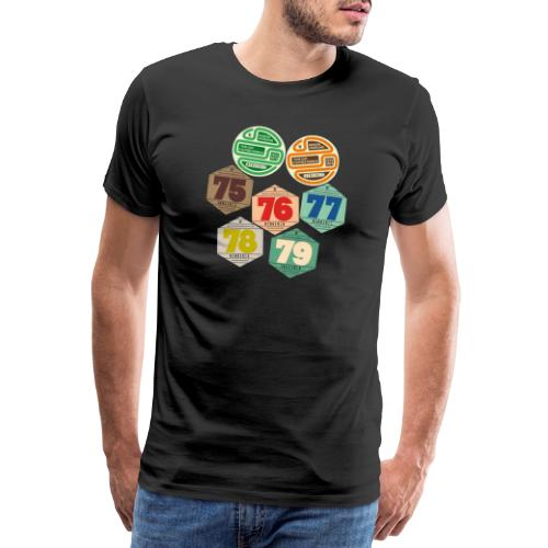 Vignettes automobiles années 70 - T-shirt Premium Homme