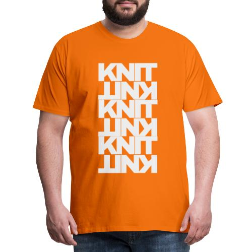 Garter Stitch, light - Men's Premium T-Shirt