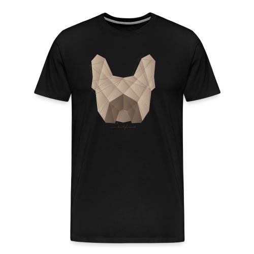 Geometric Frenchie fawn - Französische Bulldogge - Männer Premium T-Shirt