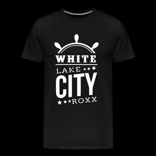 White Lake City Roxx Hoch - Männer Premium T-Shirt
