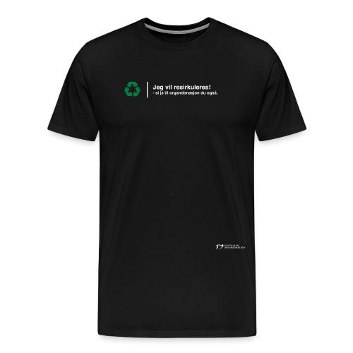 SO logo liggende sort - Premium T-skjorte for menn