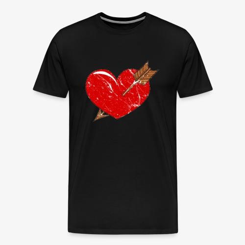 Herz Pfeil - Männer Premium T-Shirt