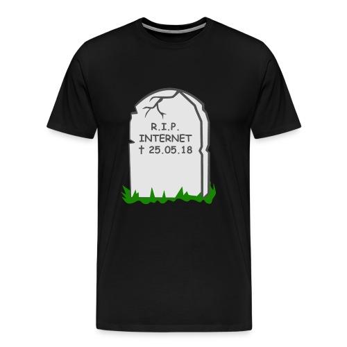 R.I.P. Internet - Männer Premium T-Shirt