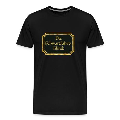 Schwarzfahrt Klinik Logo png - Männer Premium T-Shirt