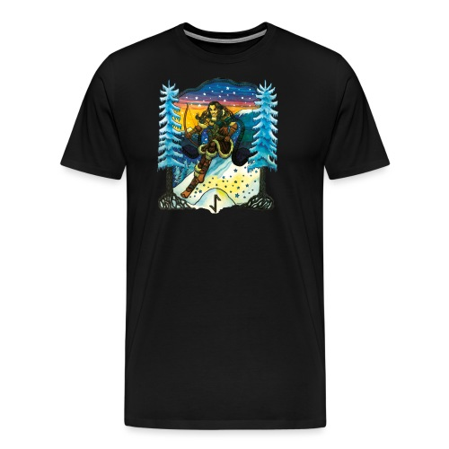 Ull - Premium-T-shirt herr