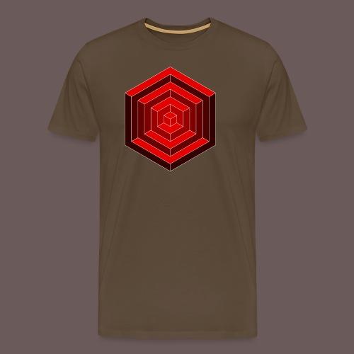Hexagon Cube - Herre premium T-shirt