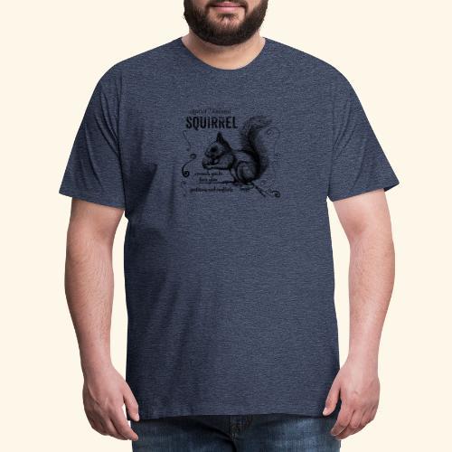 Spirit Animal Eichhörnchen schwarz - Männer Premium T-Shirt
