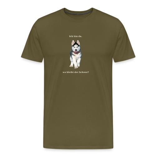 Husky Welpen mit bezaubernden Augen - Männer Premium T-Shirt