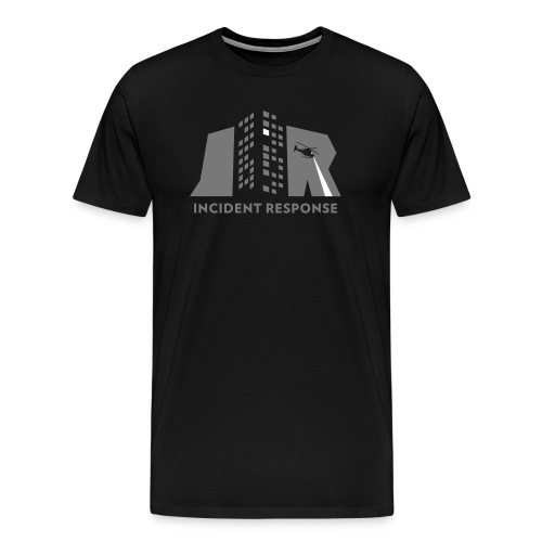 Incident response (monochrome) - Mannen Premium T-shirt