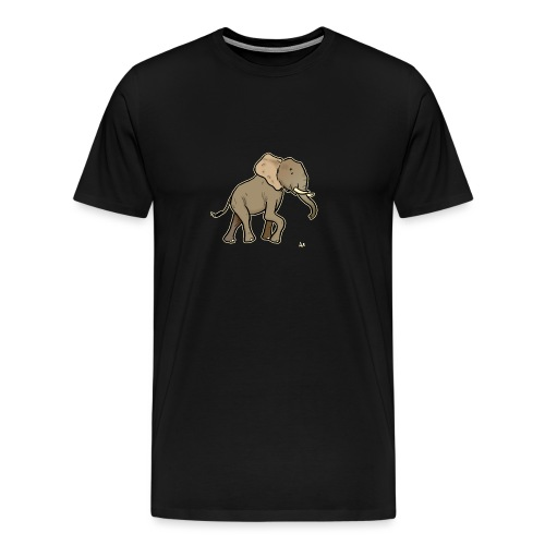 African Elephant (black edition) - Men's Premium T-Shirt