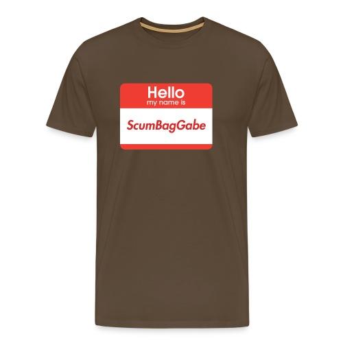 Hello My Name Is ScumBagGabe - Men's Premium T-Shirt