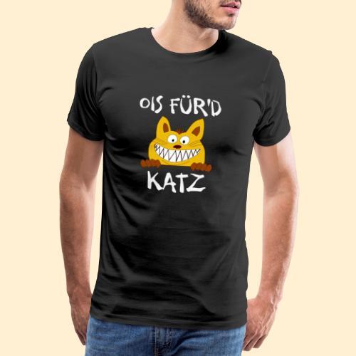 Ois Für'd Katz - Alles für die Katze Illustration - Männer Premium T-Shirt