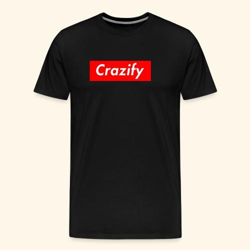 Crazify Red & White - Men's Premium T-Shirt