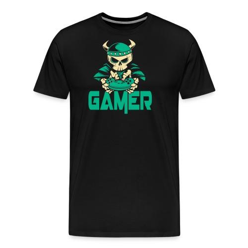 gamer skelett wikinger - Männer Premium T-Shirt