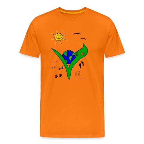 Ein Logo geht um die Welt - Männer Premium T-Shirt