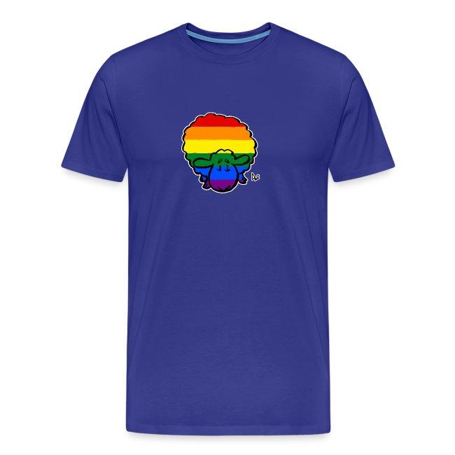 Rainbow Pride Sheep (black edition)