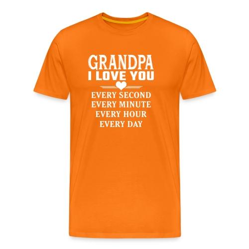 I Love You Grandpa - Men's Premium T-Shirt