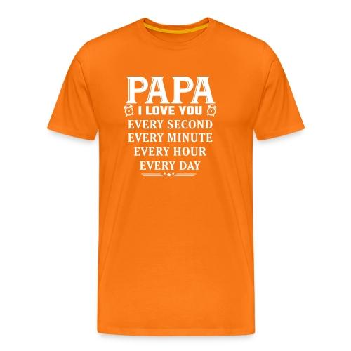 I Love you Papa - Men's Premium T-Shirt