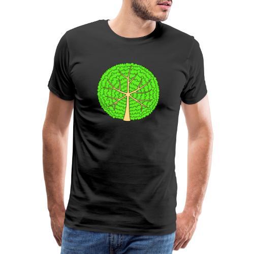 Baum, rund, hellgrün - Männer Premium T-Shirt