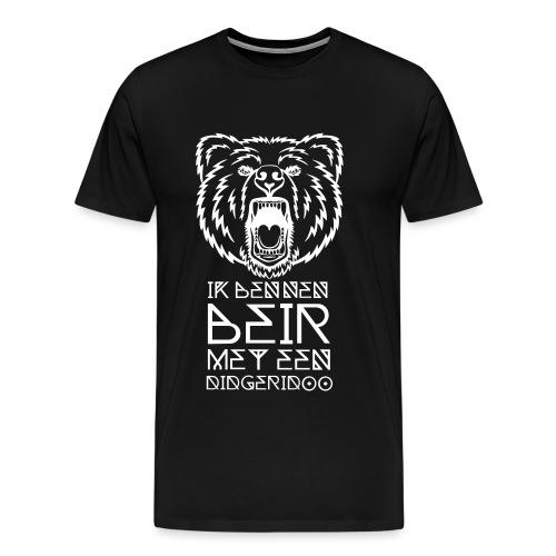 Beir met didgeridoo - Mannen Premium T-shirt