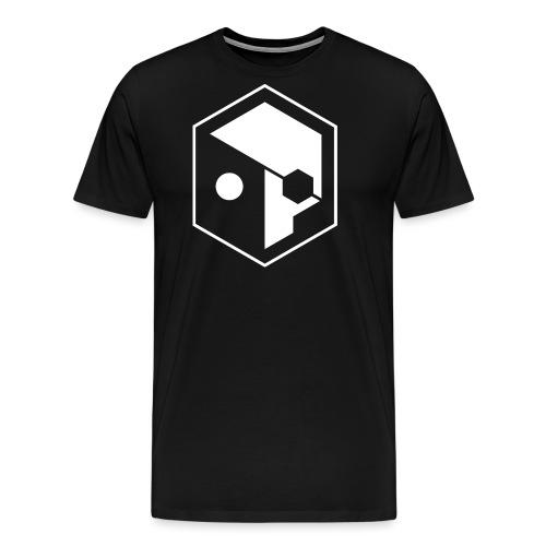 skull full outline W png - Men's Premium T-Shirt