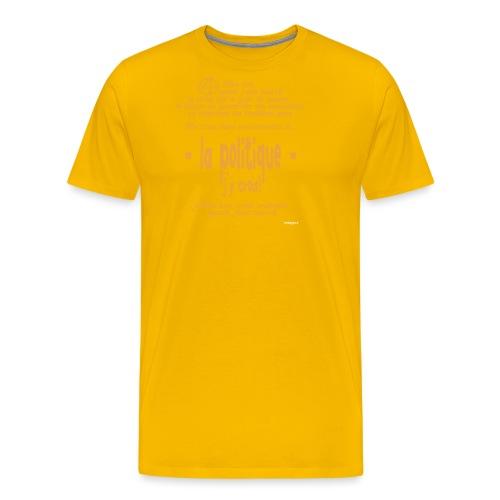 Quand je suis bourré, la politique, j'y crois ! - T-shirt Premium Homme