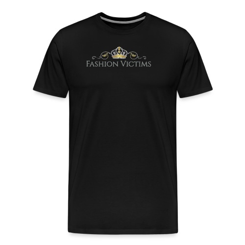 Official Fashion Victims Logo Gold/Silver - Mannen Premium T-shirt