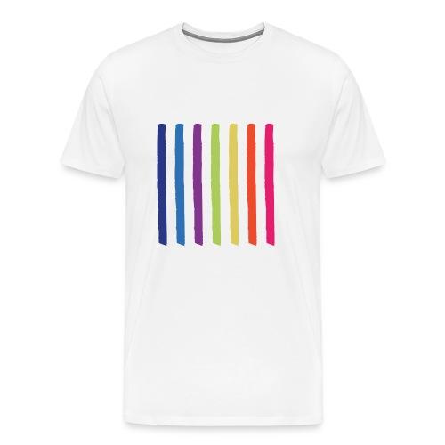 Linjer - Herre premium T-shirt