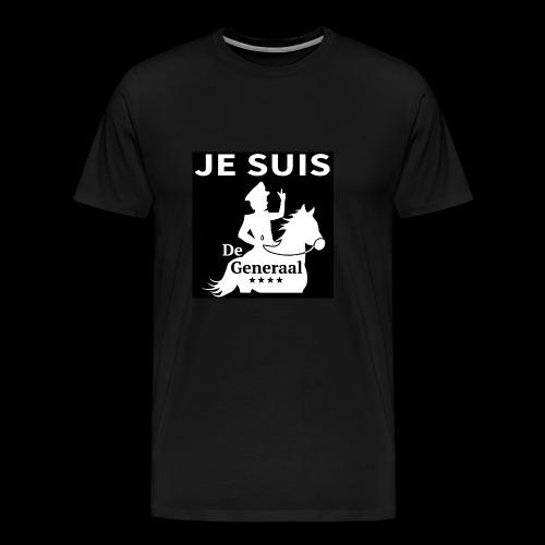 JE SUIS De Generaal (wit op zwart) - Mannen Premium T-shirt