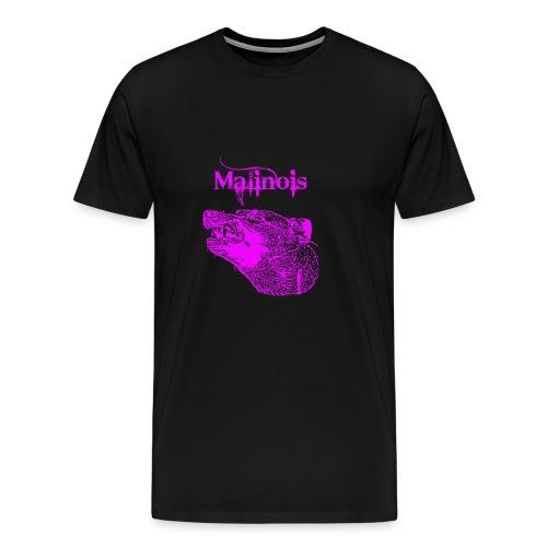 Malinois Zaehne pink - Männer Premium T-Shirt