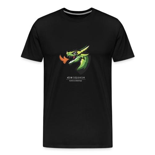 Draken med vit text - Premium-T-shirt herr