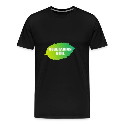 vegetarian girl - Miesten premium t-paita