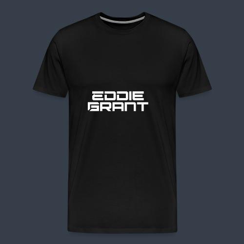 Eddie Grant White Logo - Mannen Premium T-shirt