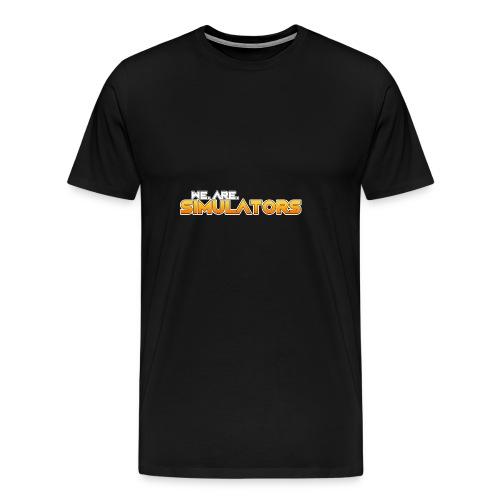 we are simulators tshirt logo - Men's Premium T-Shirt