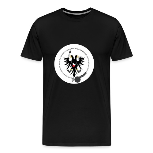 Hanseatic Jugger Logo weiß - Männer Premium T-Shirt