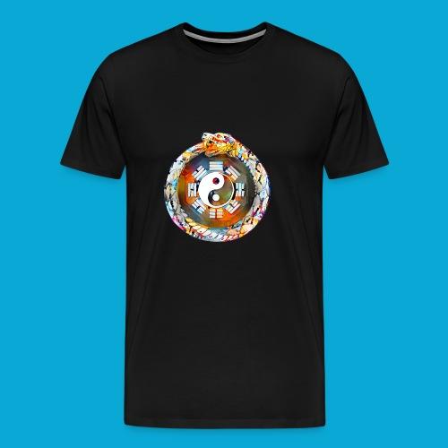 Ouroboros oder Uroboros - I Ging & Ying Yang - Männer Premium T-Shirt