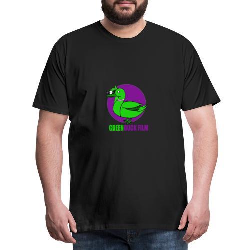Greenduck Film Purple Sun Logo - Herre premium T-shirt