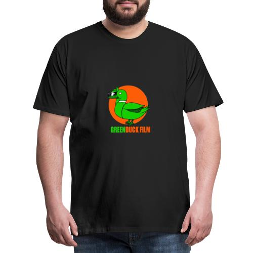 Greenduck Film Orange Sun Logo - Herre premium T-shirt