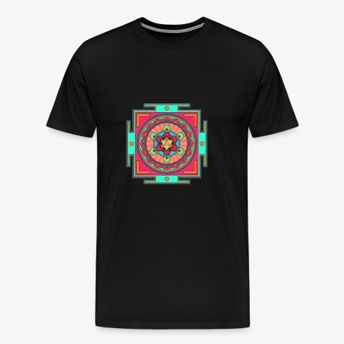 Mandala- Merkaba - Premium-T-shirt herr