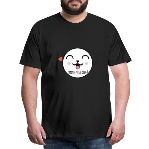 Cute face ~ gimme a kiss ❤ - Men's Premium T-Shirt
