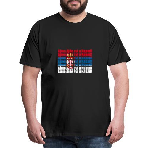Hopp Serbien - Männer Premium T-Shirt