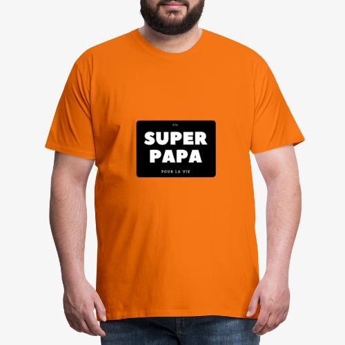 Elu super papa pour la vie - T-shirt Premium Homme