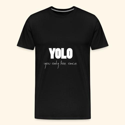 YOLO - white -1 - Männer Premium T-Shirt