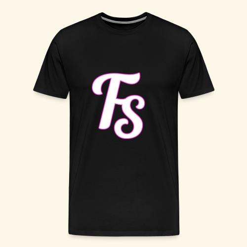 fs logo met een roze out line - Mannen Premium T-shirt