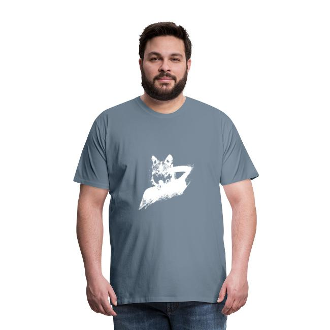 illustration zoom loup blanc