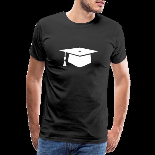 einfacher Doktorhut - Geschenk zur Doktorarbeit - Männer Premium T-Shirt