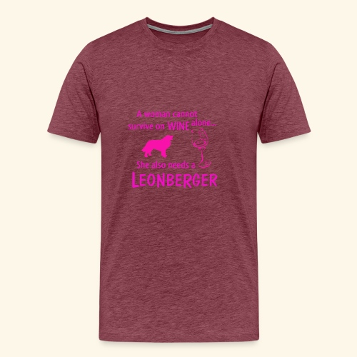 Wine&Leonberger - Premium-T-shirt herr