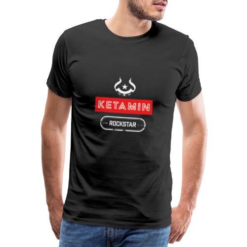 KETAMIN Rock Star - White/Red - Modern - Men's Premium T-Shirt
