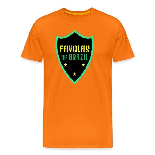 FAVELAS OF BRAZIL NOIR VERT DESIGN - T-shirt Premium Homme